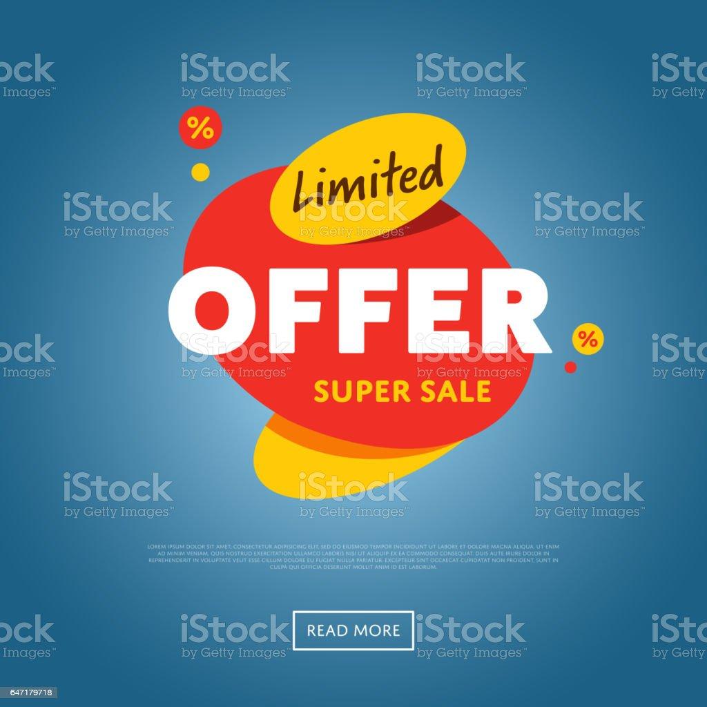 Sticker discount offre limitée isolée - Illustration vectorielle