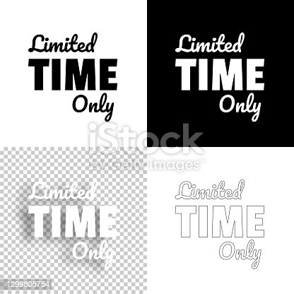 istock Limited Time Only. Icon for design. Blank, white and black backgrounds - Line icon 1299805754