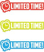 A set of labels about limited time promo.