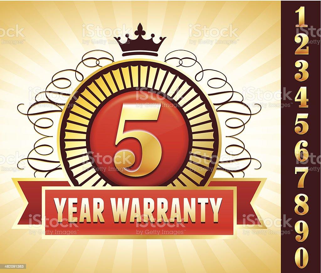 Limited Warranty Badge royalty-free stock vector art