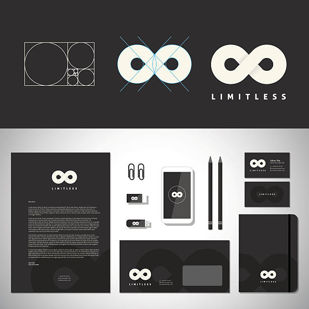 limitless abstract logo template and identity - golden ratio 幅插畫檔、美工圖案、卡通及圖標