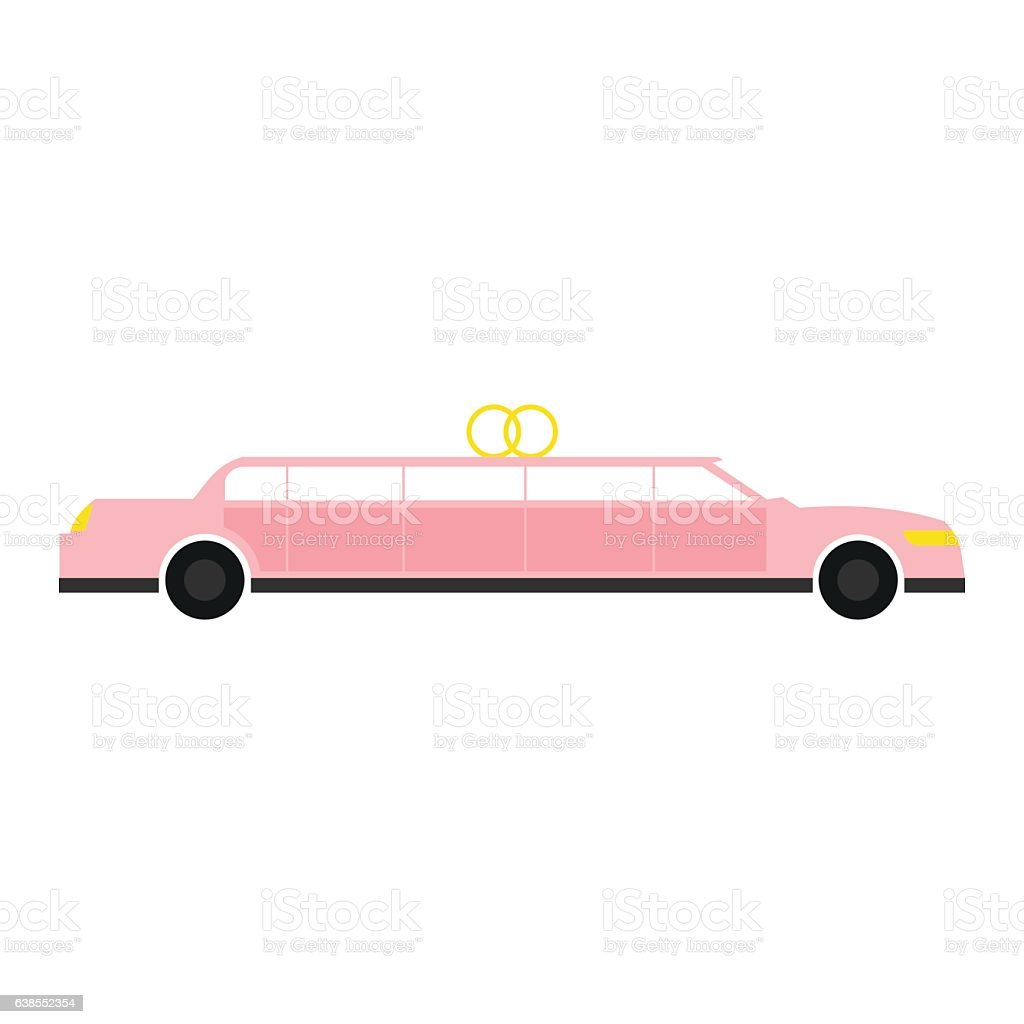 Limousine flat icon vector art illustration