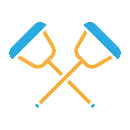 Limp leg stick  icon design vector illustration