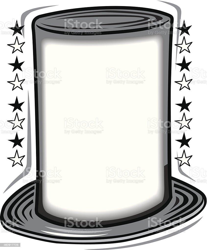 Lincoln Hat Mortice vector art illustration