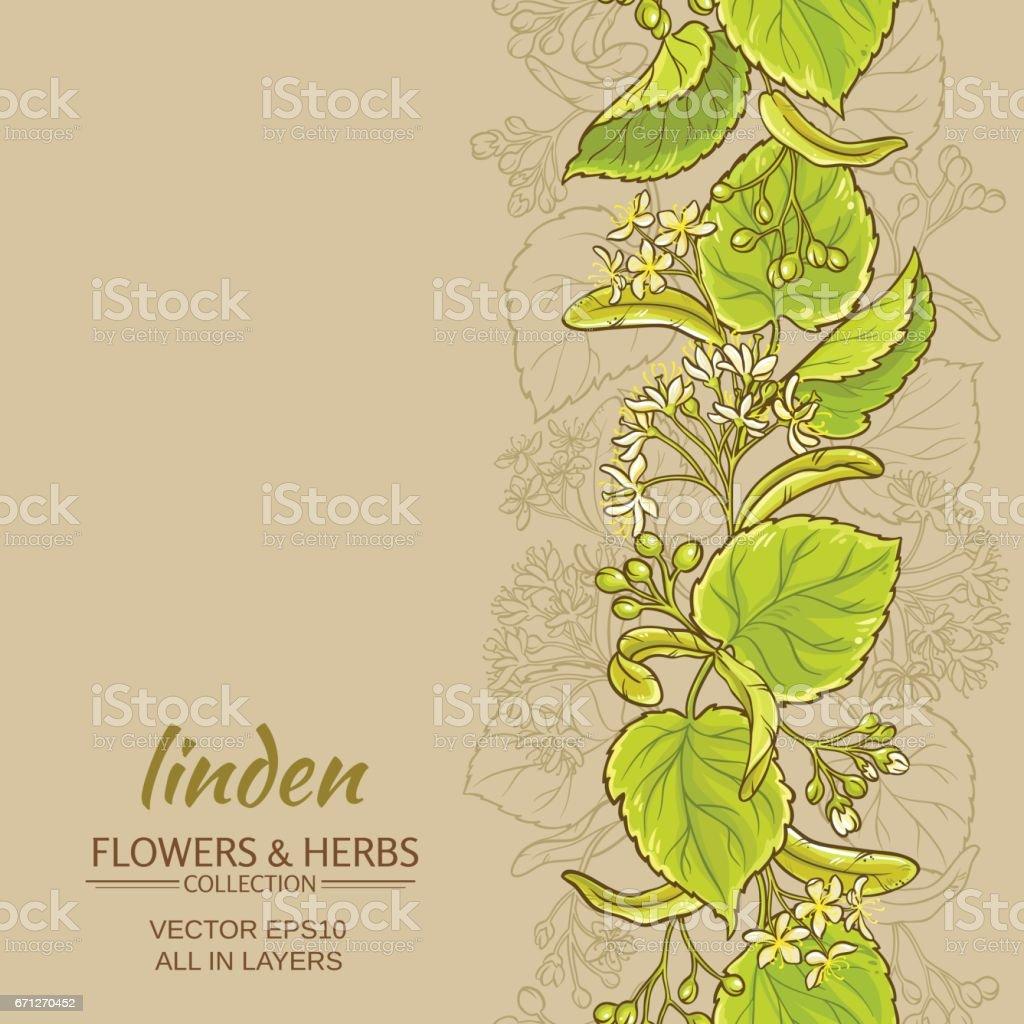 linden vector background vector art illustration