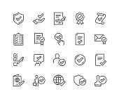 istock Line Approve Icons 1214958021