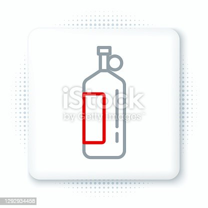 istock Line Aqualung icon isolated on white background. Oxygen tank for diver. Diving equipment. Extreme sport. Diving underwater equipment. Colorful outline concept. Vector 1292934458