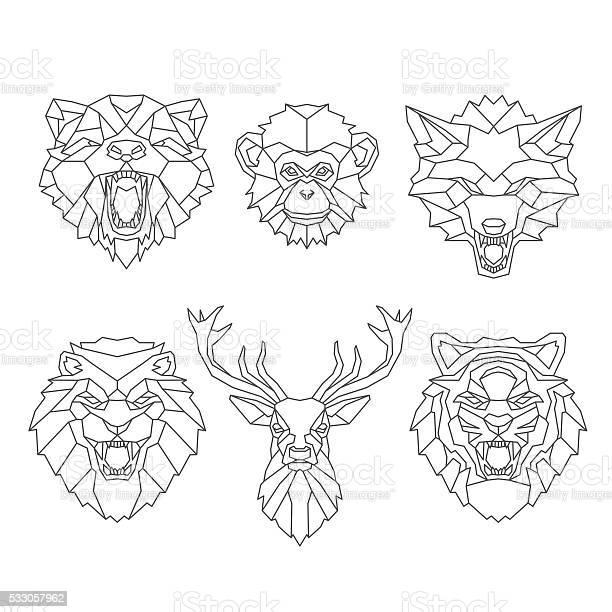 Line art animals heads vector id533057962?b=1&k=6&m=533057962&s=612x612&h=v3bwuwajuugptwn6ip8ev  el1ktteds2bdetdlzzwi=