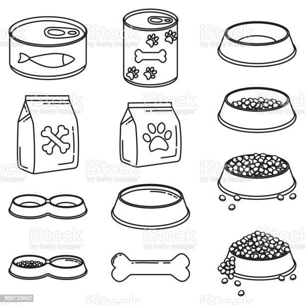 Line art black and white 12 pet food elements vector id959733642?b=1&k=6&m=959733642&s=612x612&h=dyvv6i3ceq5jqmic65fzx82dvhoiwvqcte473mhjedu=