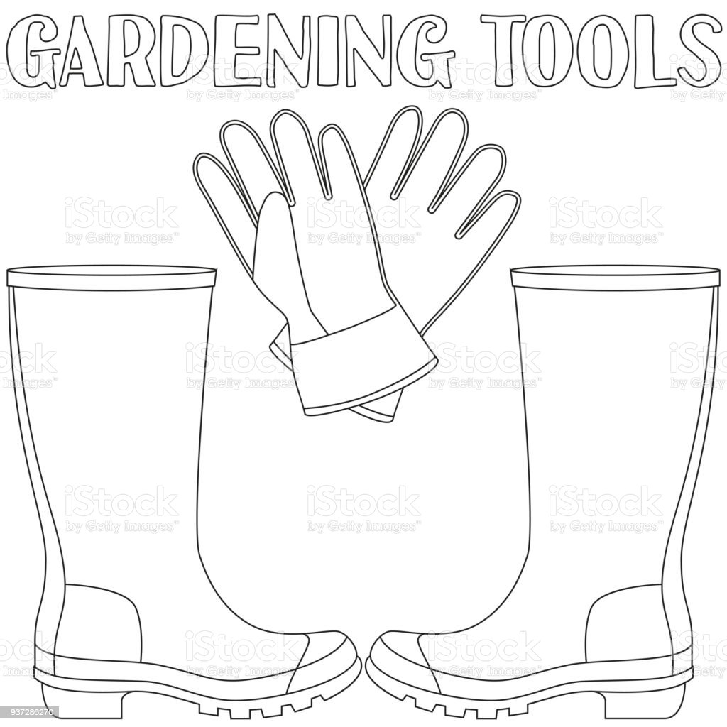 royalty free square foot garden clip art vector images Vegetable Garden Examples square foot garden videos line art black and white protective clothing vector art illustration