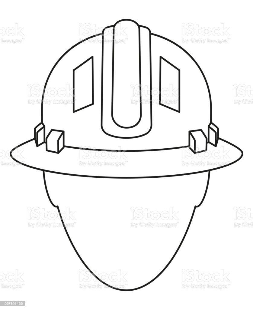 Ilustración de Avatar De Trabajador De Línea Arte Construcción ...