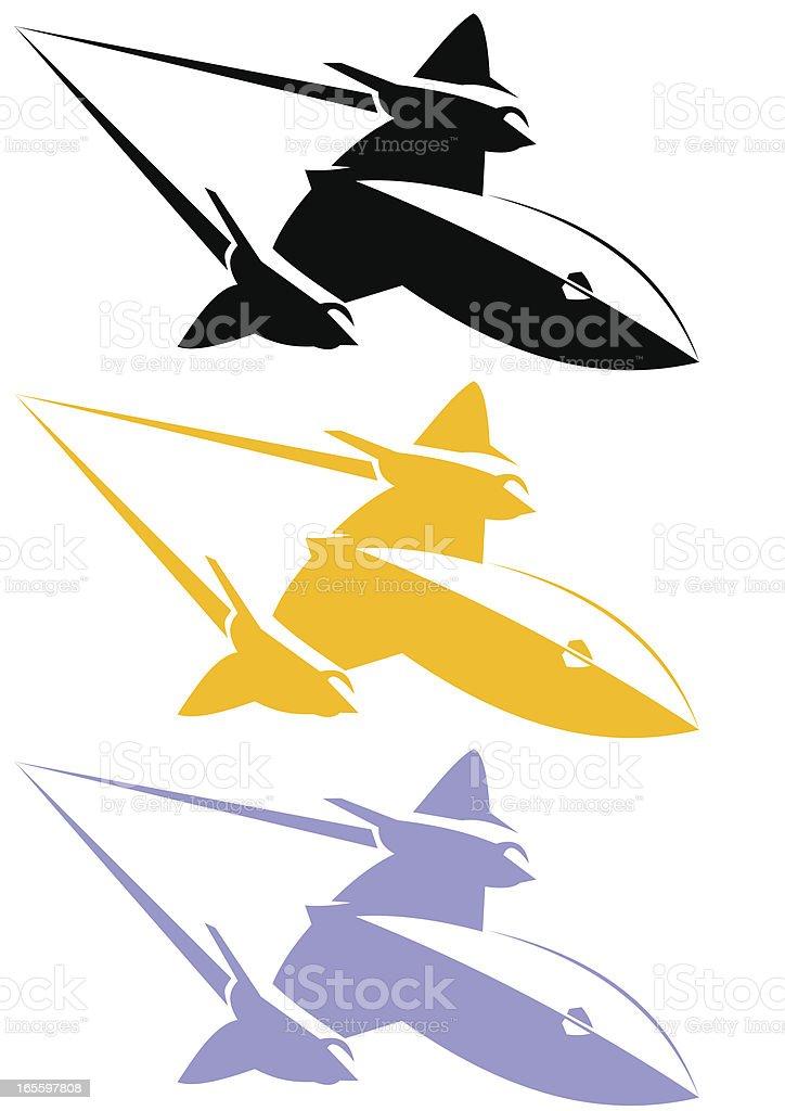 Line art Blackbird SR-71 royalty-free line art blackbird sr71 stock vector art & more images of air force