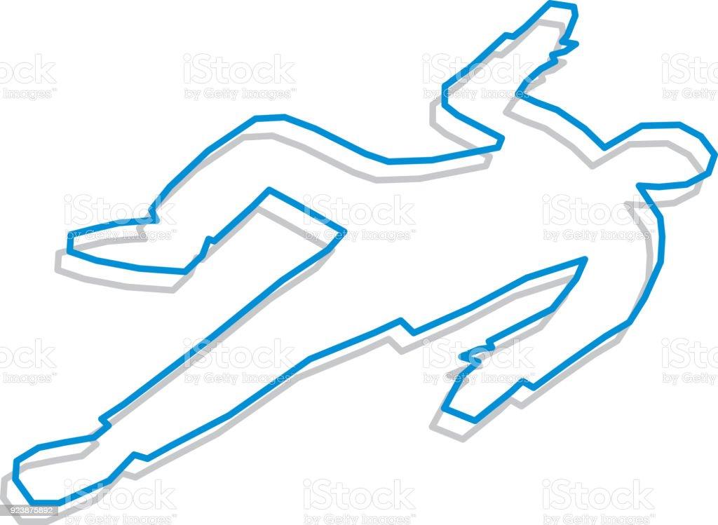 Line Art Body outline vector art illustration