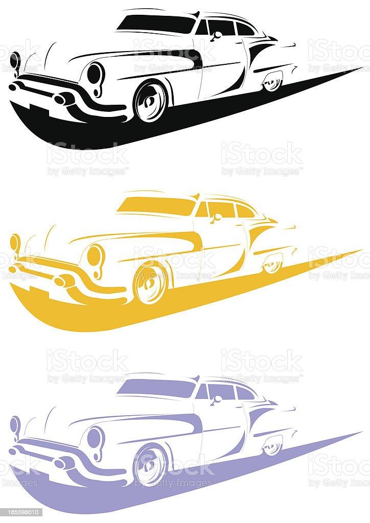 Arte lineal automóvil V ilustración de arte lineal automóvil v y más banco de imágenes de 1950-1959 libre de derechos
