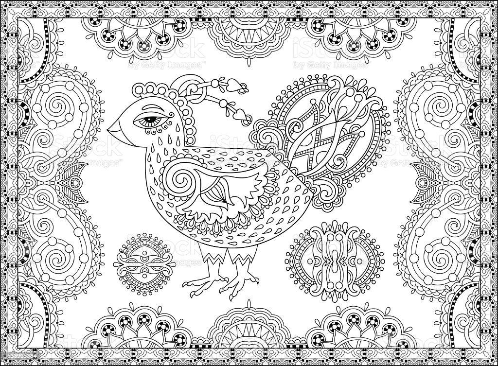 Ilustración de Grifo De Arte De Dibujo Para Libro Para Colorear ...