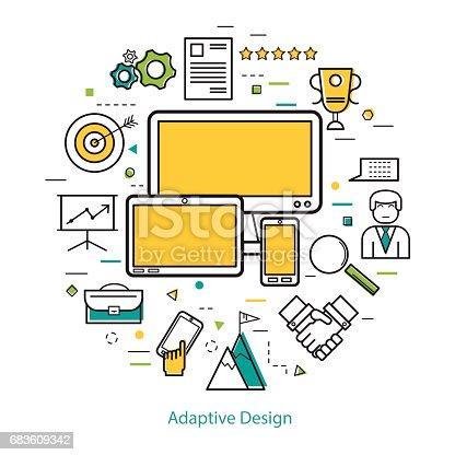 istock Line Art Concept - Adaptive design 683609342