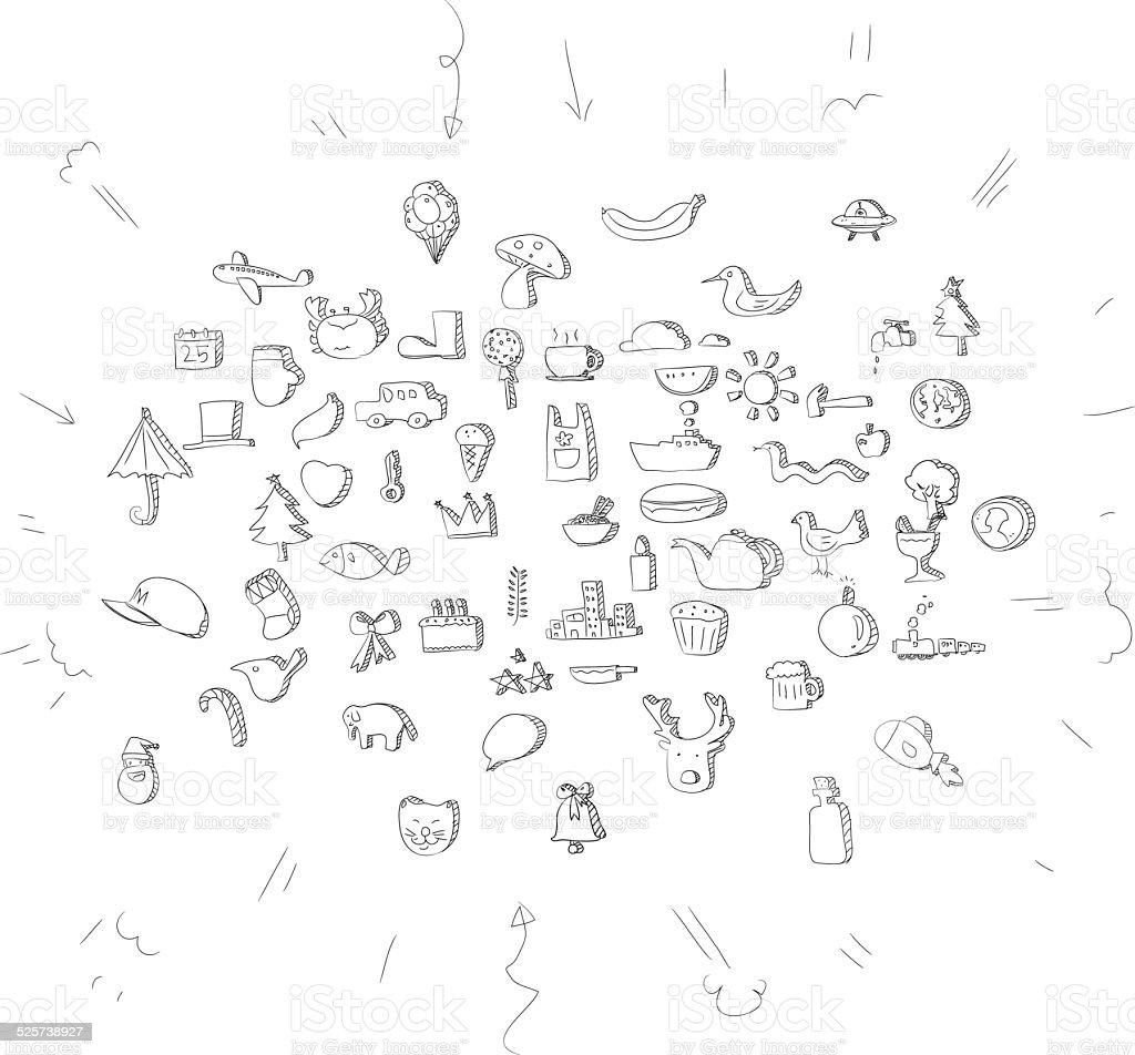 Line Art Cute Symbols Stock Vector Art More Images Of Art