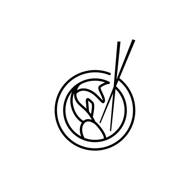 ラインアートエンブレムポケバーデザインインスピレーション - ポキ点のイラスト素材/クリップアート素材/マンガ素材/アイコン素材