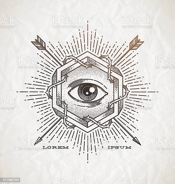 Line art emblem with impossible shape and secret symbols vector id471582042?b=1&k=6&m=471582042&s=612x612&h=j8vimwpajasl4r0pj6lzddlmjryiyd48bbhh9fapgf4=