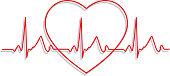 Line Art Heartbeat Monitor Icon