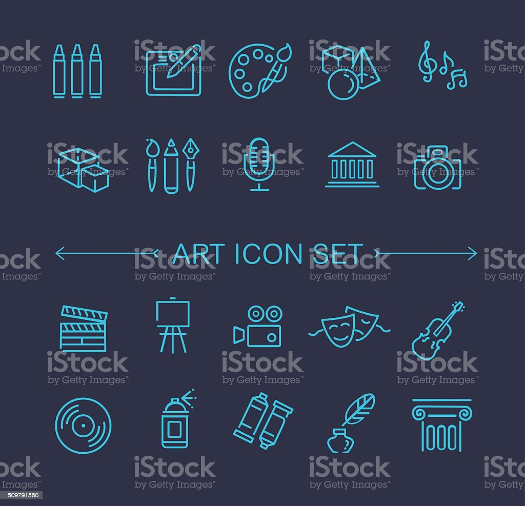 line art icon vector art illustration