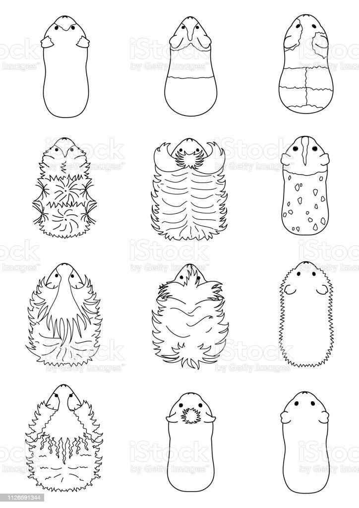 Ilustracion De Arte De La Linea De Razas De Cuy Y Mas Vectores