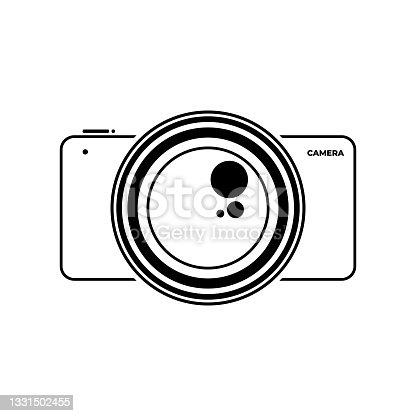 istock Line art of Camera vector illustration 1331502455
