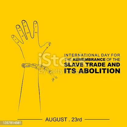 Line art of handcuffed Hand vector Illustration. Good template for International day for the remembrance of the Slave Trade and Its Abolition design.
