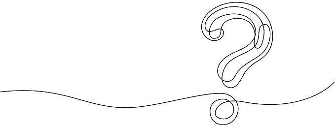 line art question mark