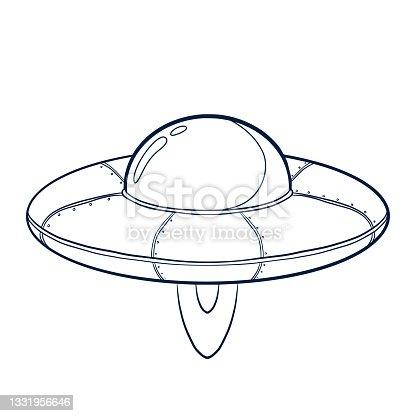 istock Line Art Spacecraft Illustration 1331956646