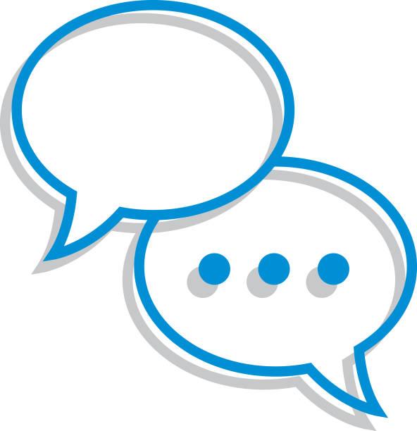 line art speech bubble icon - conversation stock illustrations