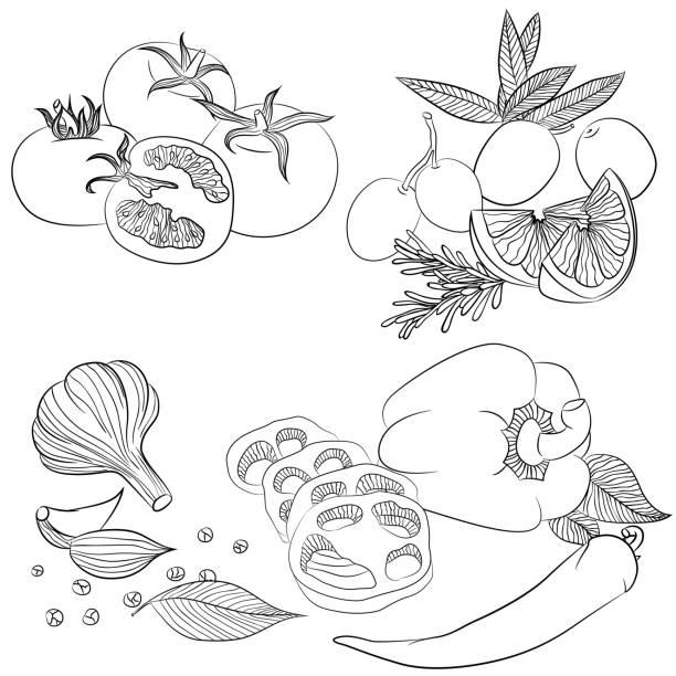 Vectores de Libro Para Colorear Frutas Y Verduras Limón y ...