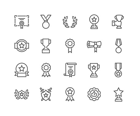 Line Awards Icons