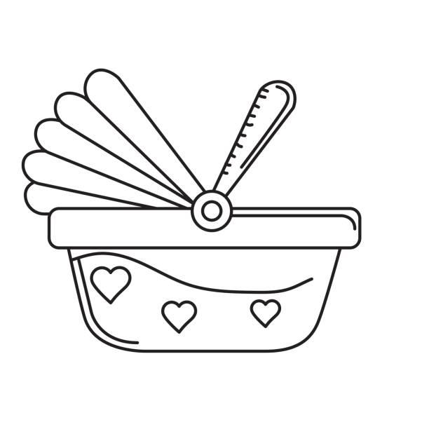 illustrations, cliparts, dessins animés et icônes de siège d'auto de bébé utilisé pour la protection de la ligne - child car sleep
