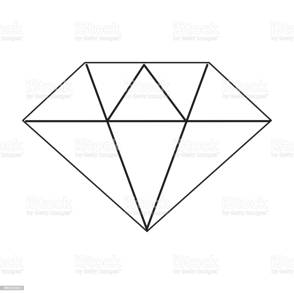 line beautiful gem diamond to luxury use royalty-free line beautiful gem diamond to luxury use stock vector art & more images of antiquities