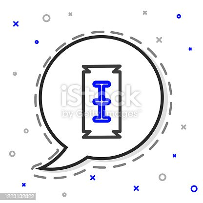 Line Blade razor icon isolated on white background. Colorful outline concept. Vector Illustration