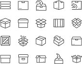 Line Box Icons
