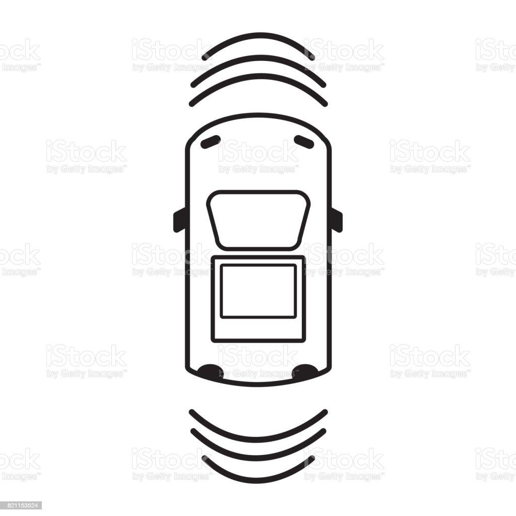 line car transportation from above with sunroof stock vector art rh istockphoto com Movie Theme Border Clip Art Remote Start Clip Art