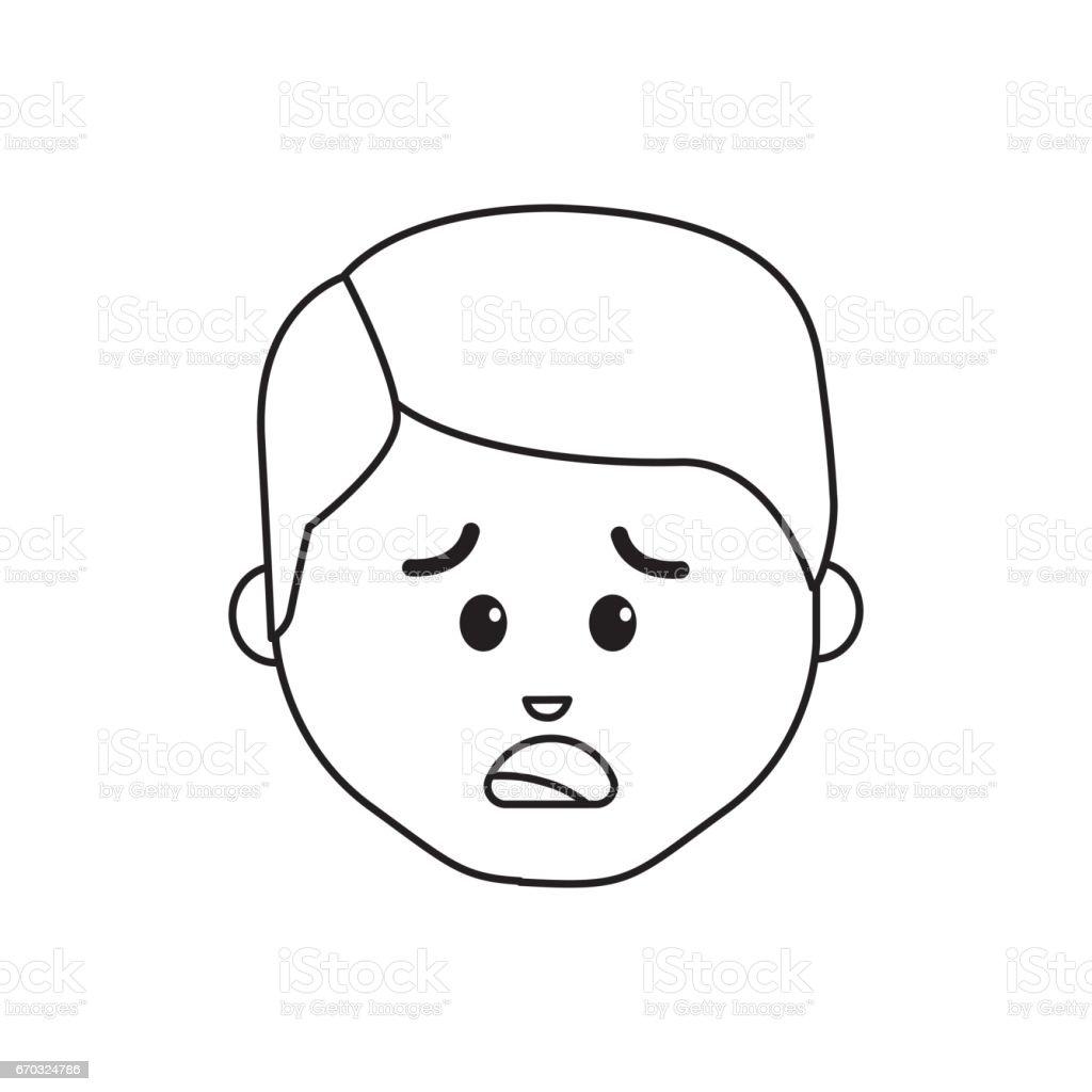行漫画男悲しい表情 アバターのベクターアート素材や画像を多数ご用意