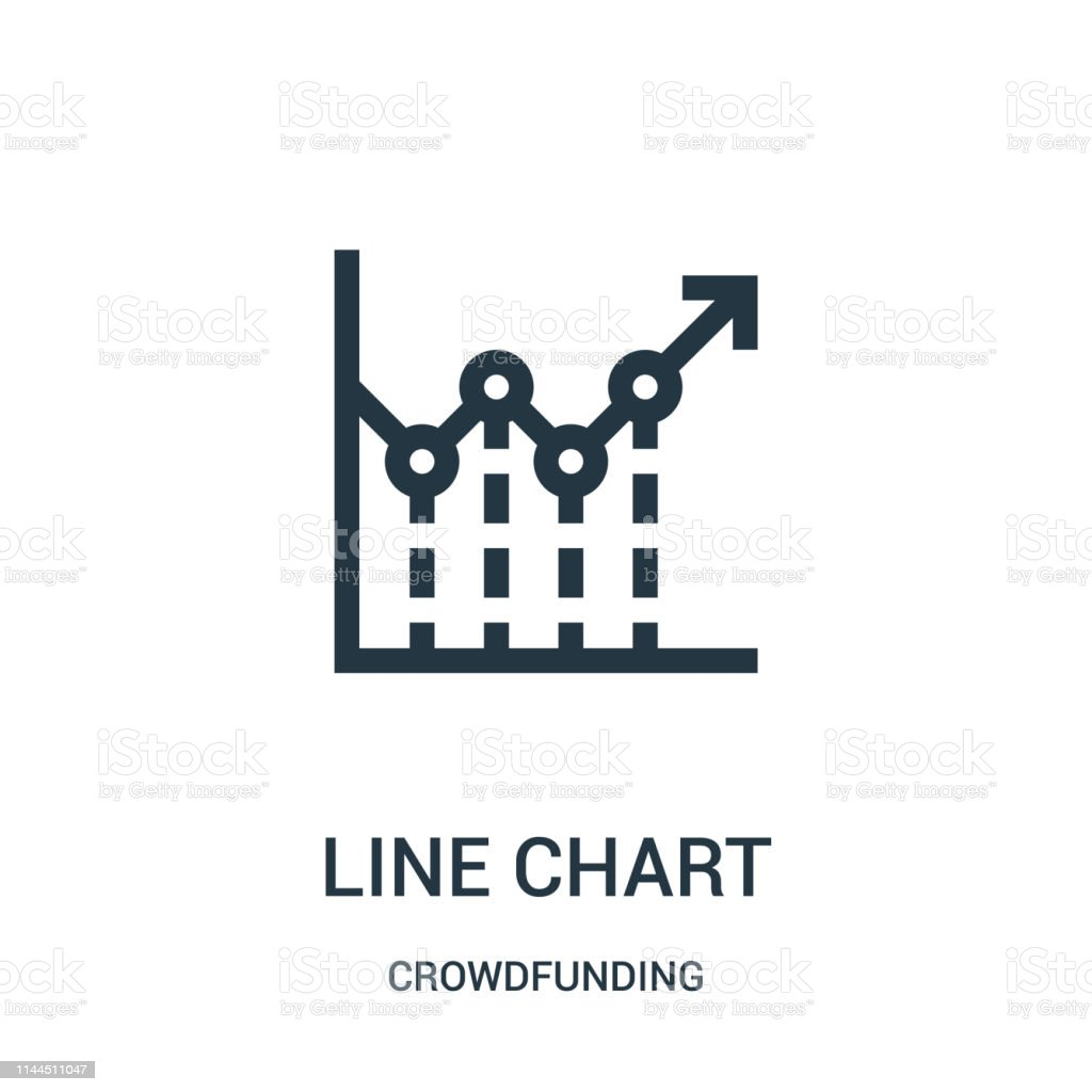 line chart icon vector from crowdfunding collection. Thin line line...