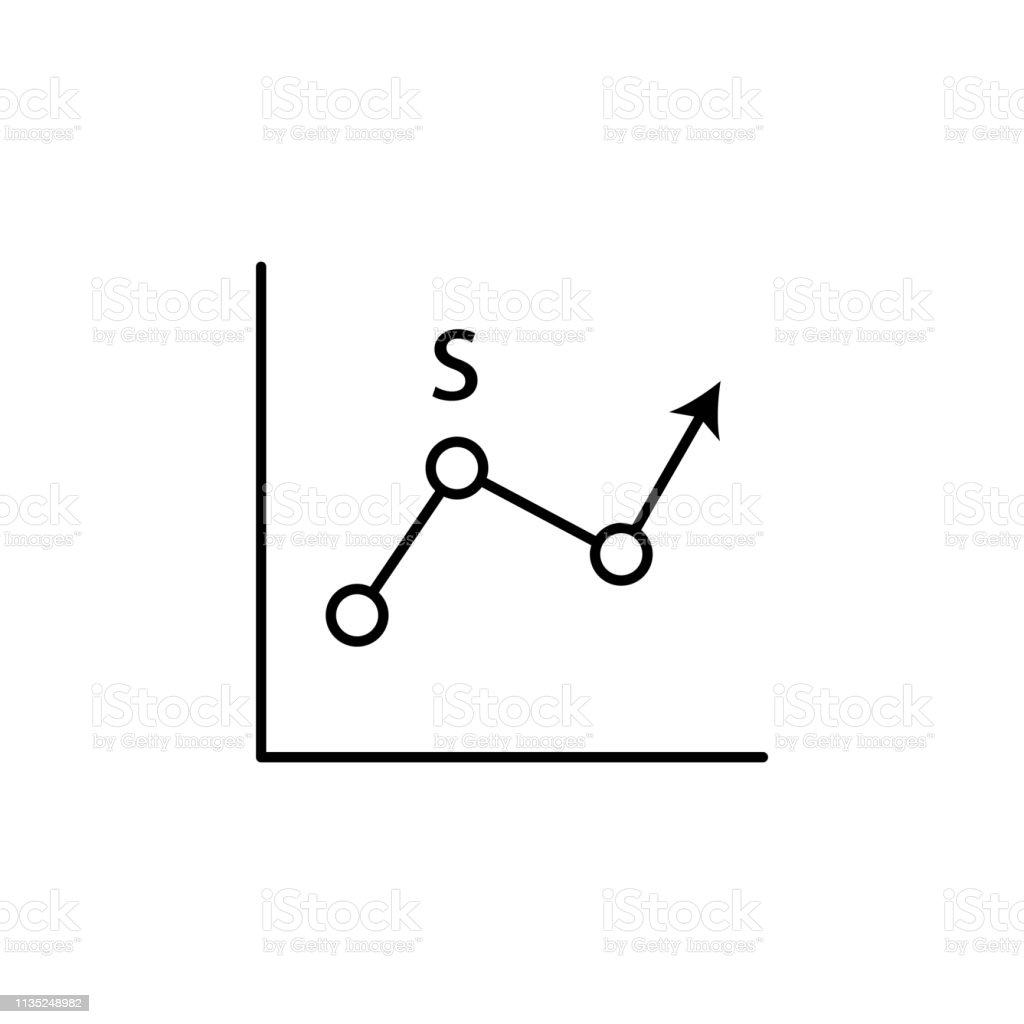 line chart line icon. Element of chart icon for mobile concept and...