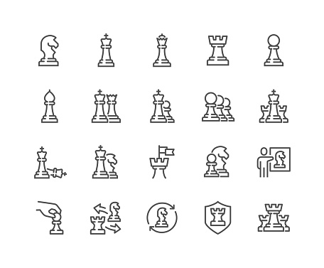Line Chess Icons