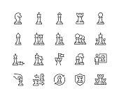 istock Line Chess Icons 1302935196