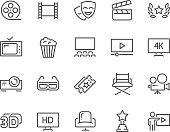 Line Cinema Icons