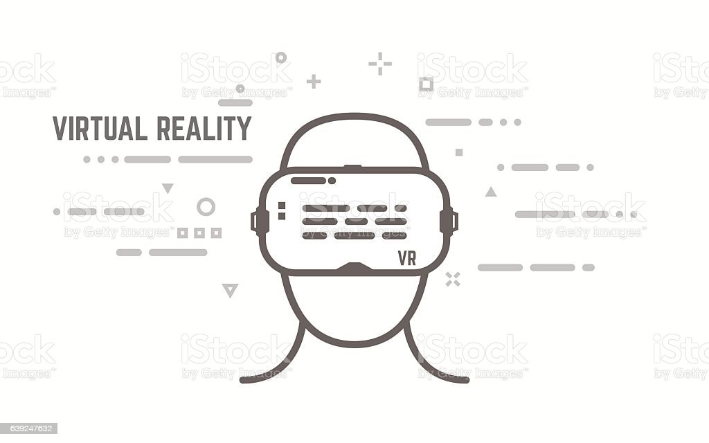 VR line concept – Vektorgrafik