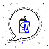 Line Cream or lotion cosmetic tube icon isolated on white background. Body care products for men. Colorful outline concept. Vector Illustration