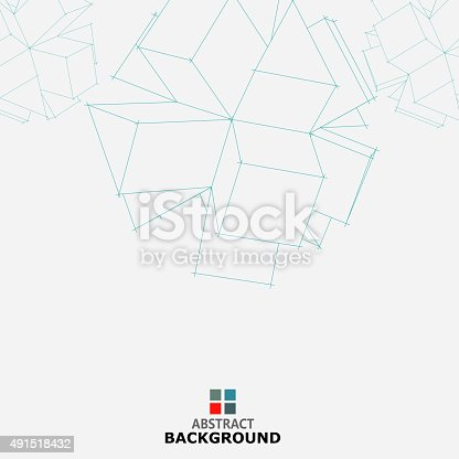 istock line cube pattern background 491518432