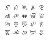 istock Line Customer Satisfaction Icons 1300637447