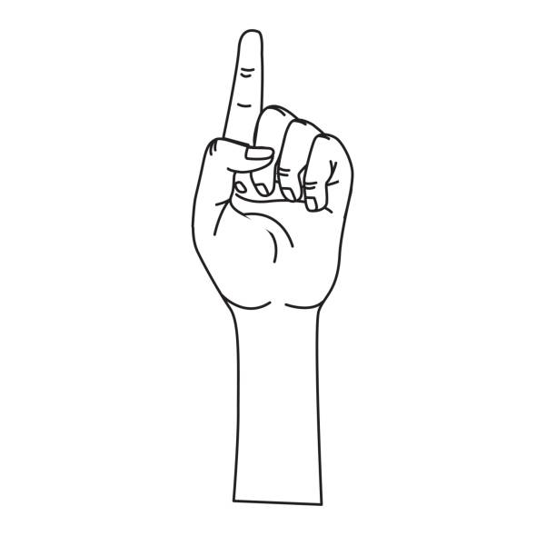 Best Middle Finger Woman Illustrations, Royalty-Free ...