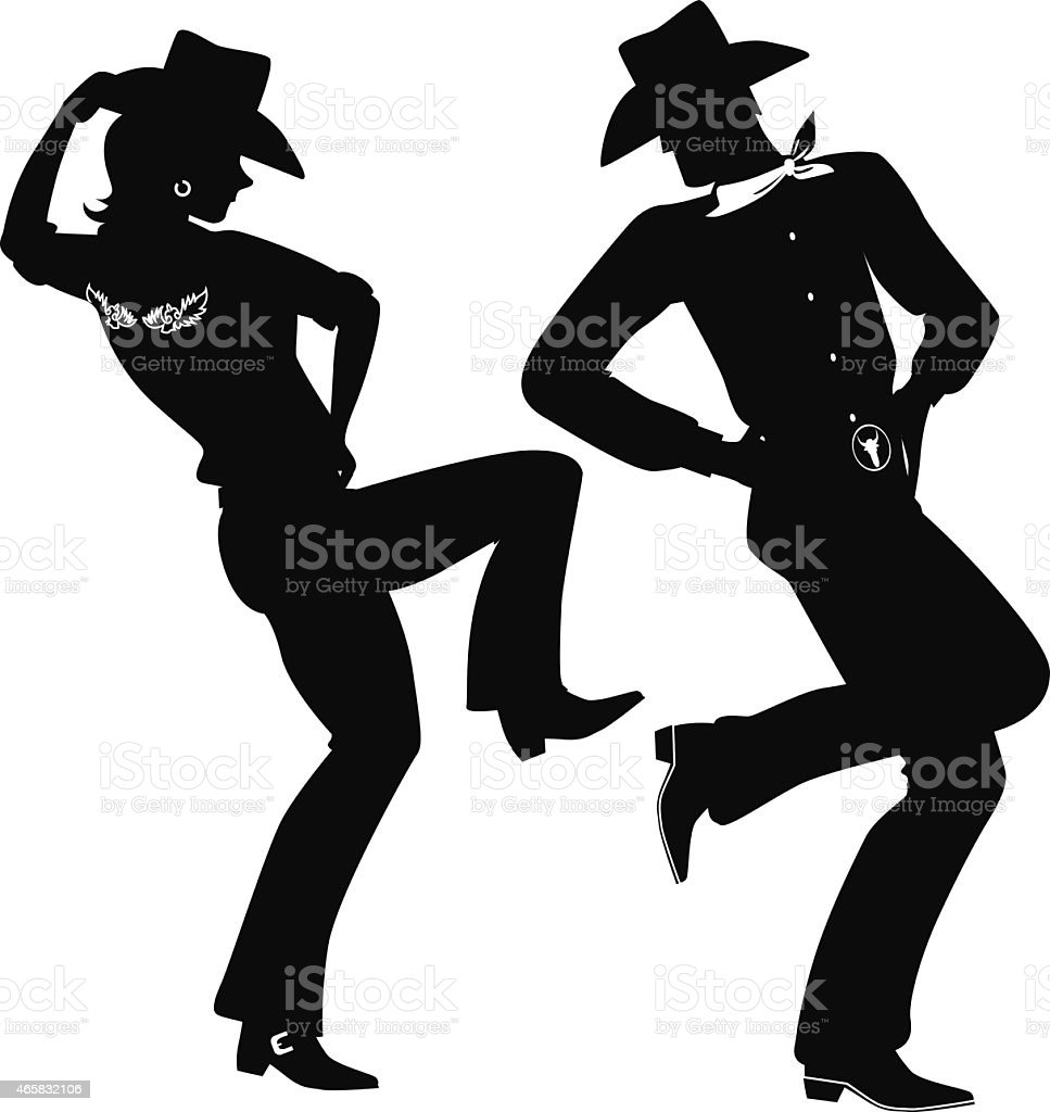 Line dance vector art illustration